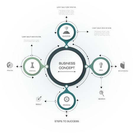 Vector infographics, 3D papiercyclus diagram sjabloon, Lege ruimte voor data-inhoud, business, infographic, digitaal netwerk, flowchart, procesdiagram, grafiek. Business concept met opties of stappen processen. Stockfoto - 69505785