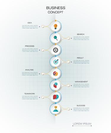 diagrama de flujo: Vector plantilla de infografía 3D con etiqueta de papel, círculos integrados. Concepto de negocio con opciones. Para el contenido, diagrama, diagrama de flujo, los pasos, las partes, la infografía de línea de tiempo, el diseño de flujo de trabajo, diagrama
