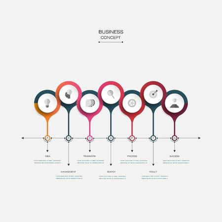 Vector molecule with 3D paper label, integrated circles background. Blank space for content, business, infographic, diagram, digital network, flowchart. Social network connection technology concept Illusztráció
