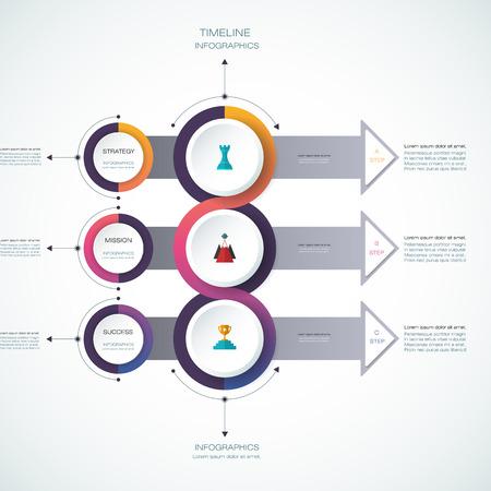 Vector De Infografía De Línea De Tiempo Plantilla De Diseño Con ...