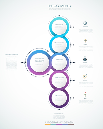 Vector abstract molecules with 3D paper label, integrated circles. Blank space for content, business, infographic template, diagram, network, web design. Light gray color background. Social media connection technology concept 免版税图像 - 86155491