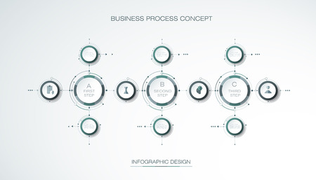 Vector Infographic 3d Circle Label Template Design Business