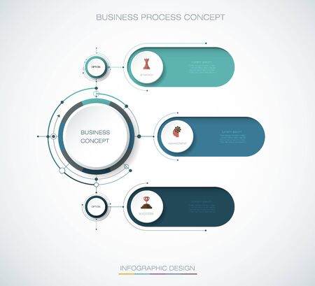 Vector Infographic 3d circle label, template design. Business concept, Infograph with 3 number options, steps or processes.
