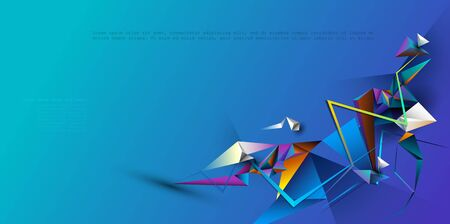 Geometric, Polygon, Triangle pattern shape. Illustration