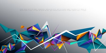 Abstract 3D Geometric, Polygon, Triangle pattern shape. Illustration