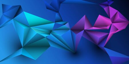 Vector 3D Geometric, Polygon, Line, Triangle pattern shape for wallpaper or background. Illustration low poly, polygonal design with dark blue color. Abstract science, futuristic, web, network concept