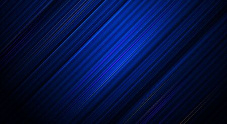 Illustration Abstract light stripes line pattern. Vector graphic design with blank, empty space on gradient blue color background. Futuristic digital technology for template or banner background