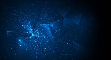 Abstract futuristic - Molecules technology 矢量图像