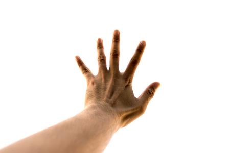 five fingers: Hand five fingers Stock Photo