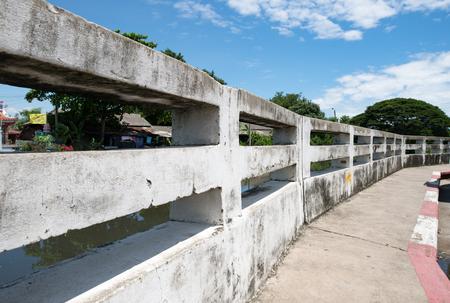 Cement rail bridge