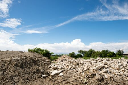 Cairn mound sky