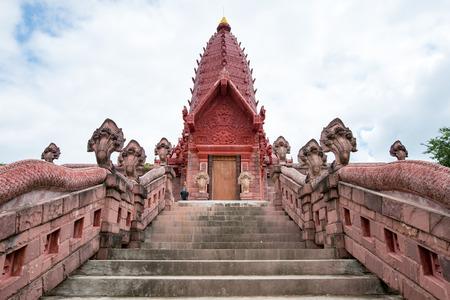 Wat Phrai Phatthana Phu Sing District, Si Sa Ket background