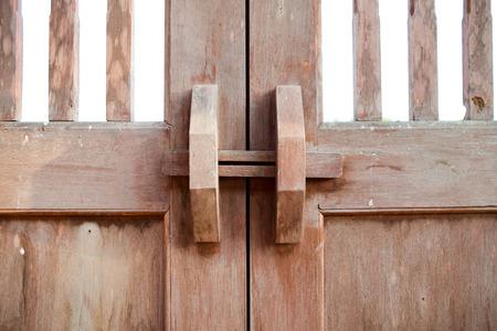 Old wood door with lock Banco de Imagens
