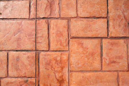 brick floor background. Banco de Imagens