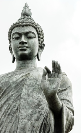 buddha face: Statue of Buddha at peace