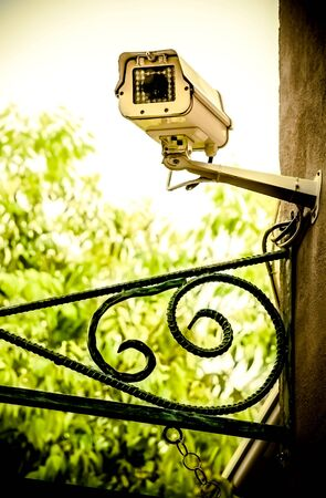 CCTV on a front of shop photo
