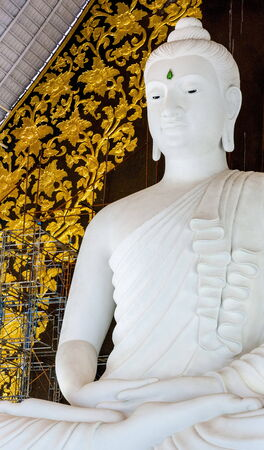 Statue of Buddha at peace in respectability