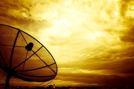 telecom: telecom on the beautiful clouds Stock Photo