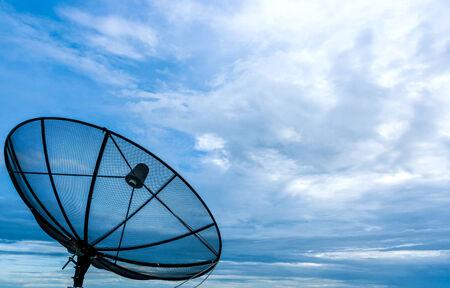 Telekom auf den schönen Wolken Standard-Bild - 33696040