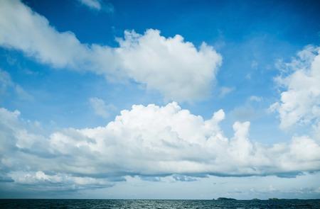 beautiful clouds in a bluesky