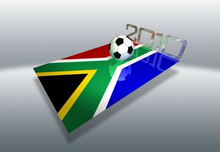 Rendering concerning the soccer World Cup 2010 in South Africa photo