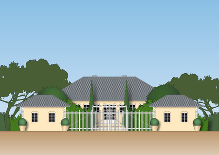 Illustration of a luxurious estate