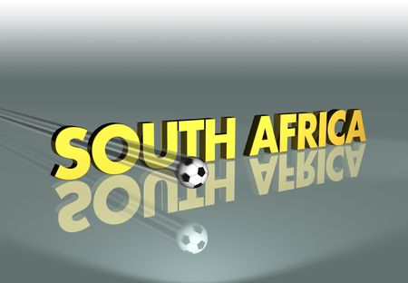 Rendering concerning the soccer World Cup 2010 in South Africa Stock Photo - 6855707