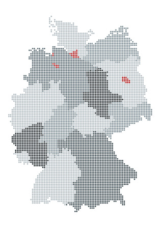 rhine westphalia: Graphical german map