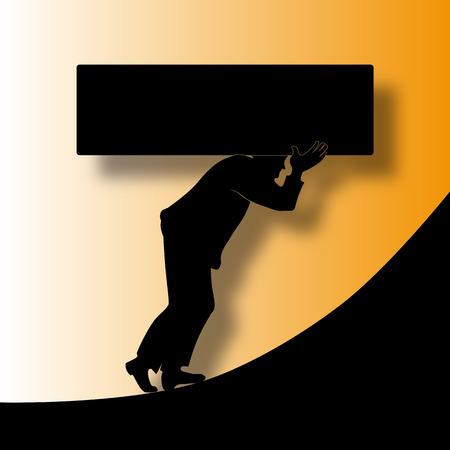 Debts - Illustration concerning the financial crisis Vector