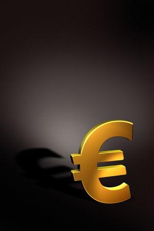 Golden Euro Stock Photo - 6984181