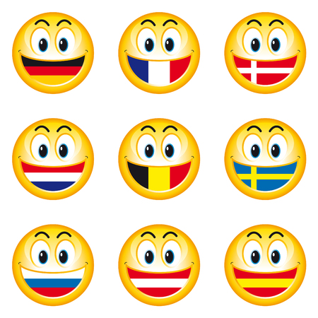 austria flag: Smiley flags 1