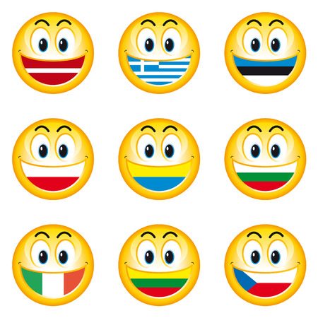 Smileys Flags 3 Stock Vector - 6984056