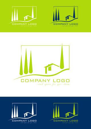 guests: Logotipo de casa de vacaciones Vectores