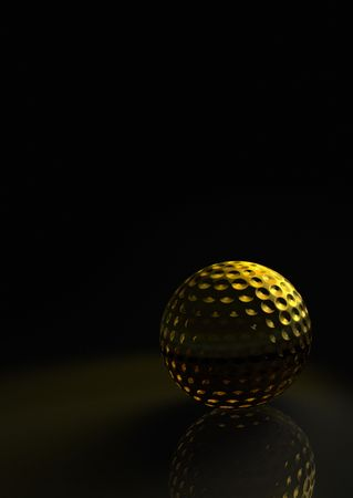 elite sport: Golden golf ball