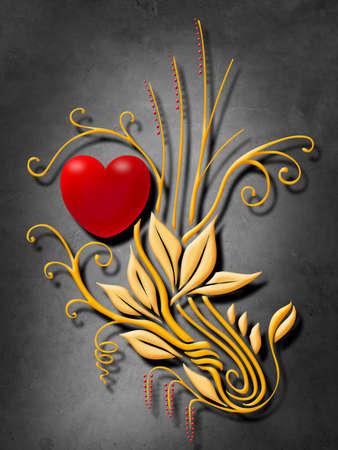 cousin: Golden Heart Flower
