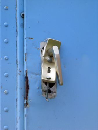 Destroyed lock and handle caused by vandalism or housebreaking Stock Photo - 7025932