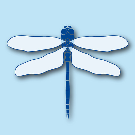 Stylized symmetric illustration of a dragonfly Vector