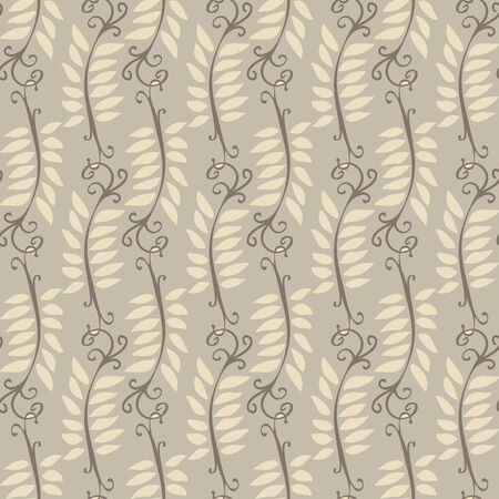 Illustration of a wallpaper or textile texture with leaves as ornament; it can be used continuously Vector