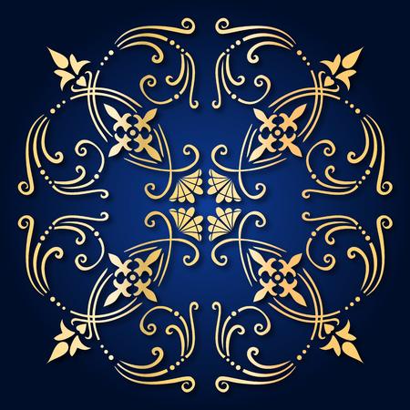 Illustratie van een oude barokke ornament tegel