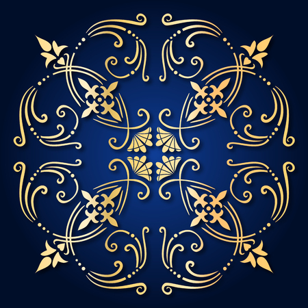 Illustration of an ancient baroque ornament tile Stock Vector - 7025947
