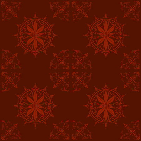 Illustration of an ancient baroque ornament wallpaper or textile texture; it can be used continuously Illustration