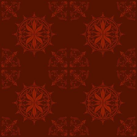 old barn: Illustrazione di una texture di sfondo o tessili antiche di ornamento barocco; pu� essere utilizzato continuamente  Vettoriali