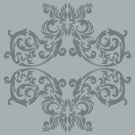 タイルの旧式なバロック式飾りの図;それは継続的に使用することができます。  イラスト・ベクター素材