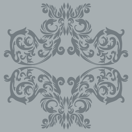 Illustration of an antique baroque ornament tile; it can be used continuously