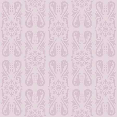 Illustration of a violet ancient baroque ornament wallpaper or textile texture; it can be used continuously Vector