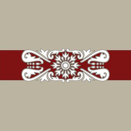 Ilustración de un mosaico de antigua ornamentación barroca; se puede utilizar para productos de embalajes, impresión o como patrón continuo Foto de archivo - 7051640