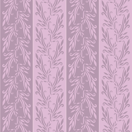 Illustration of a violet  wallpaper or textile texture with flowers; it can be used continuously Vector
