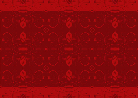 Illustration of a historicizing wallpaper or textile texture with arabesques; it can be used continuously Stock Vector - 7051643