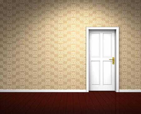Ancient empty beige room