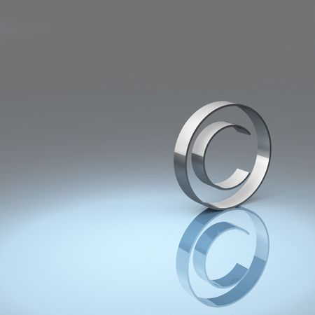 Rendering of the copyright symbol